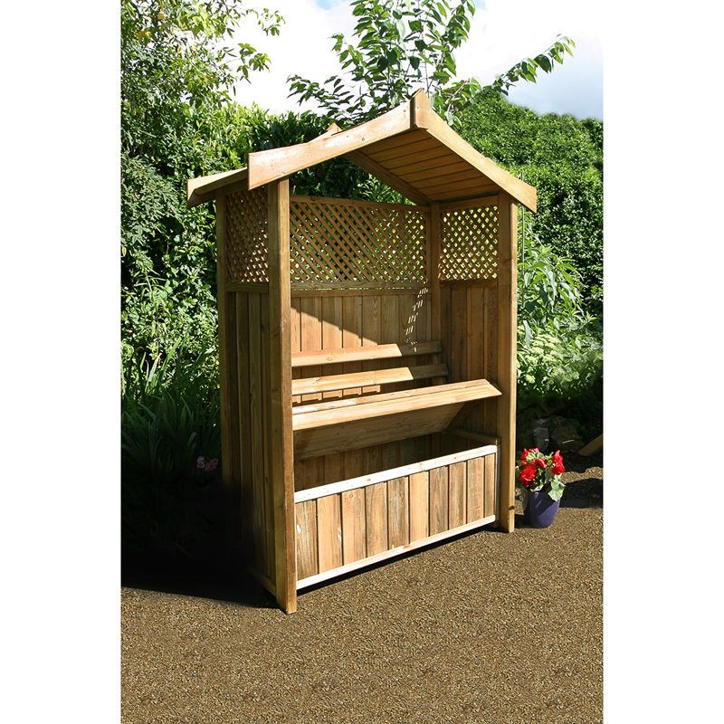 45 Arbor Oak: Garden Seating, Garden Storage Bench
