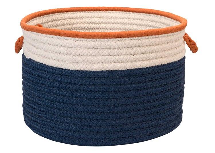 Colonial Mills In The Band Storage Bins Blue & Orange Round Basket | CIBN81BKTROU