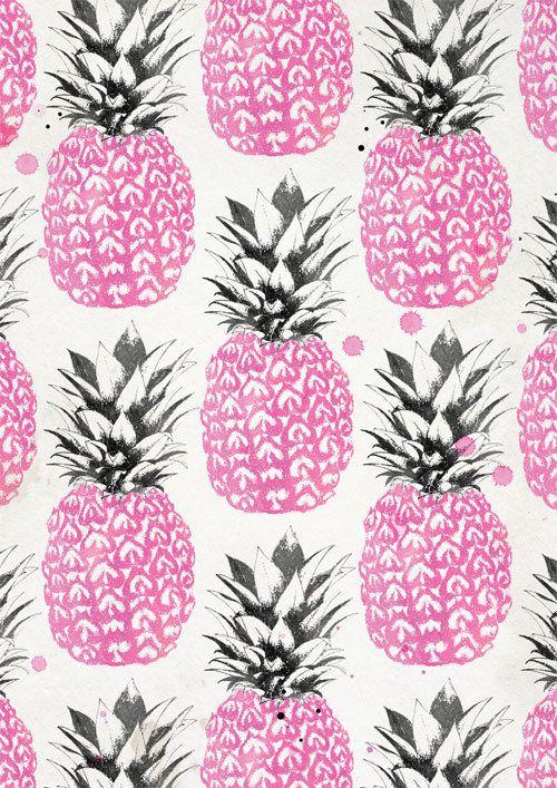 Laine Fraser #pink #pineapple