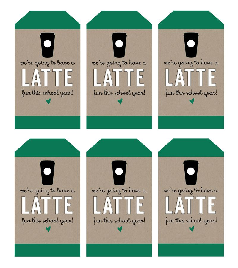 A latte fun teacher gifts for back to school latte teacher and were going to have a latte fun this year teacher gift for back to school pizzazzerie negle Gallery
