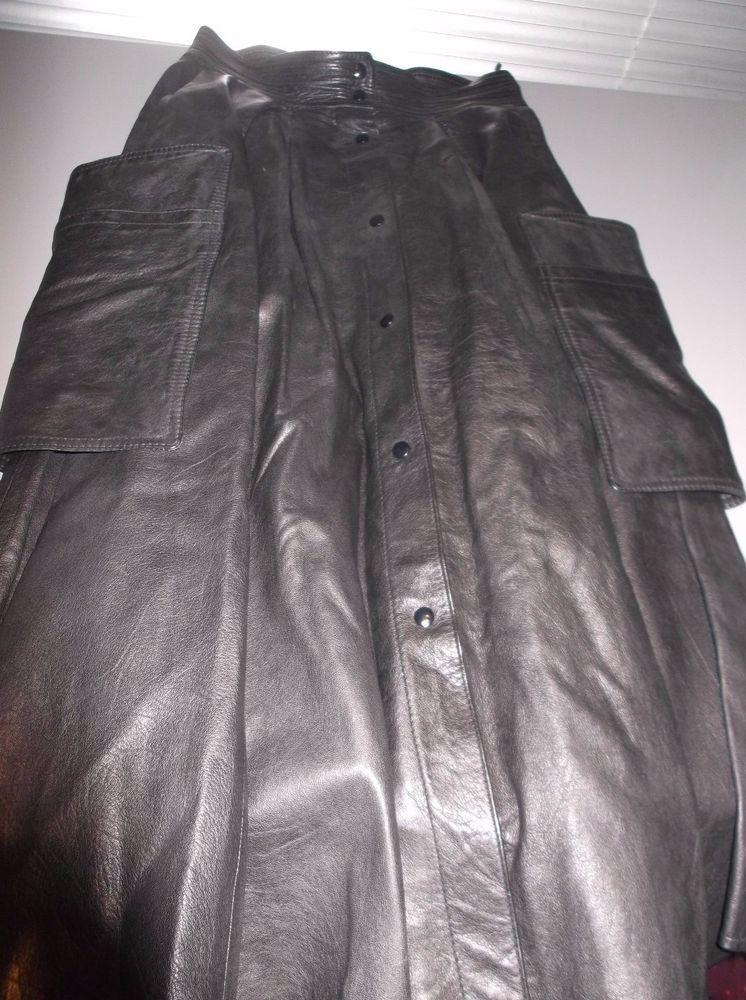 blacky dress damen lederrock leder rock vintage taschen kn pfe gr e 38 schwarz lederrock. Black Bedroom Furniture Sets. Home Design Ideas