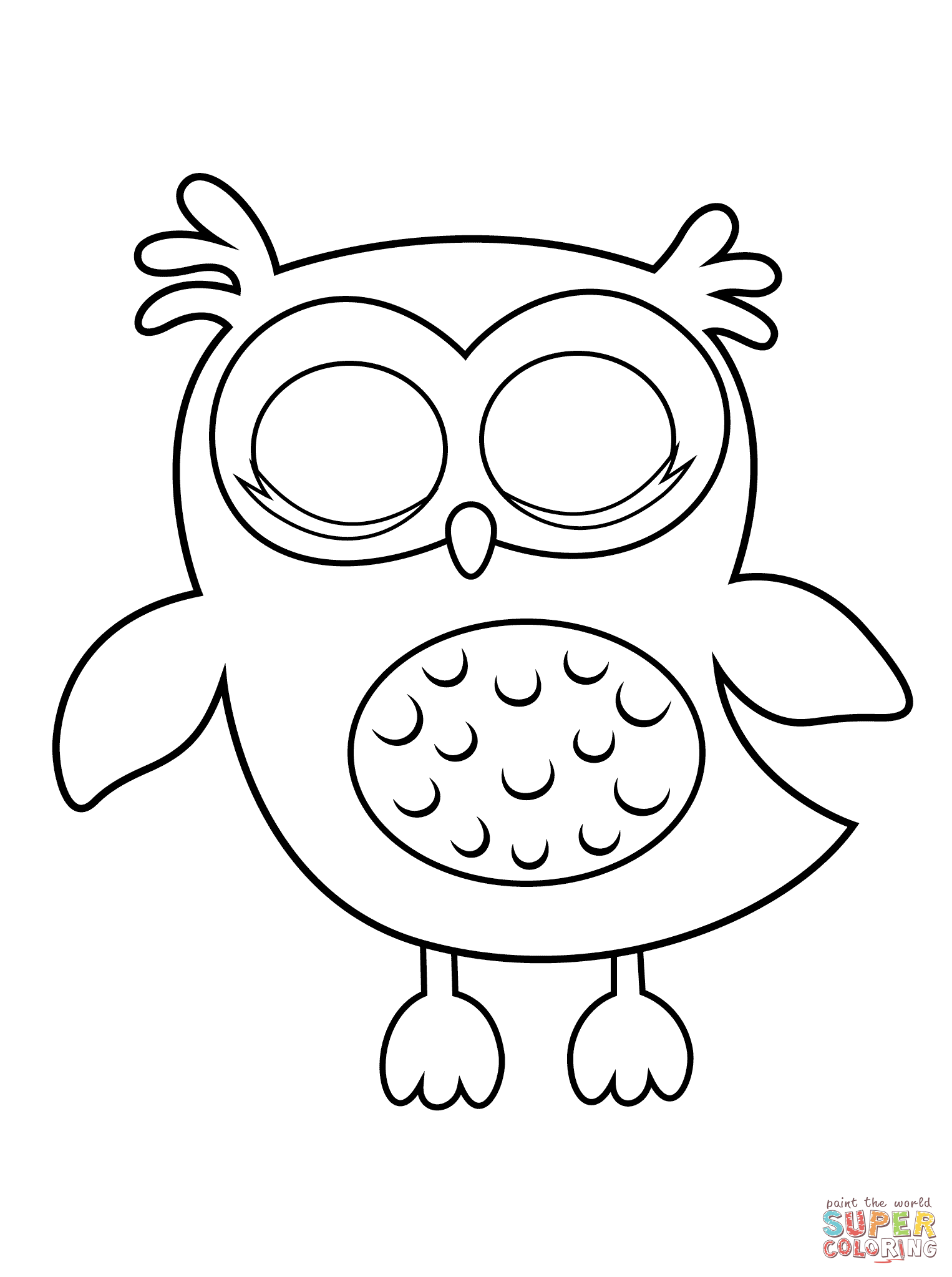 Image Result For Owl Coloring Image