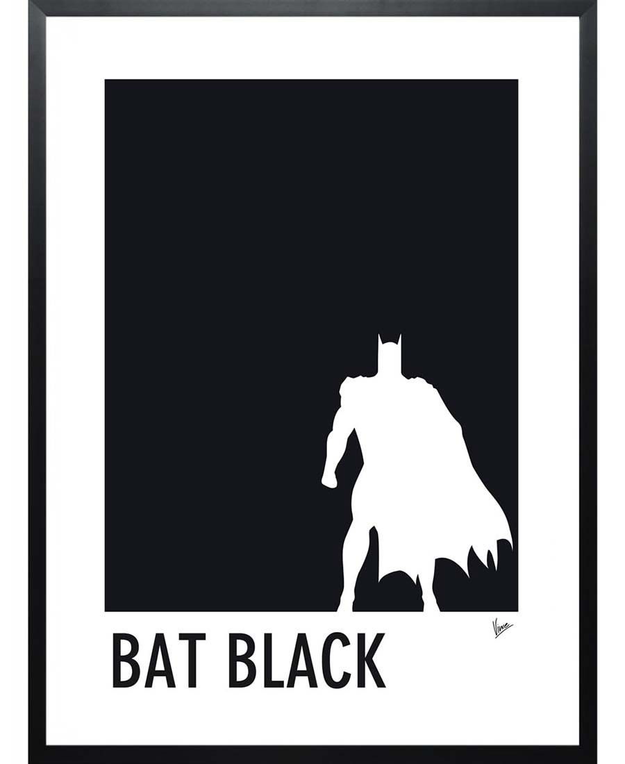 Batman Black. My Superhero 02 Bat Black Minimal Poster by Chungkong now on Juniqe.com | Art. Everywhere.