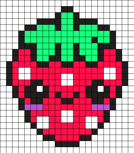 Fraise Kawaii Pixel Art Fraise Pixel Art Nourriture Et