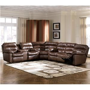 Memphis - Brown 3 Piece Reclining Sectional by Ashley Millennium at Marlo Furniture : marlo furniture sectional sofa - Sectionals, Sofas & Couches
