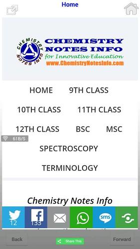 Chemistry Notes Info Apps 3 Screenshots | C | Chemistry