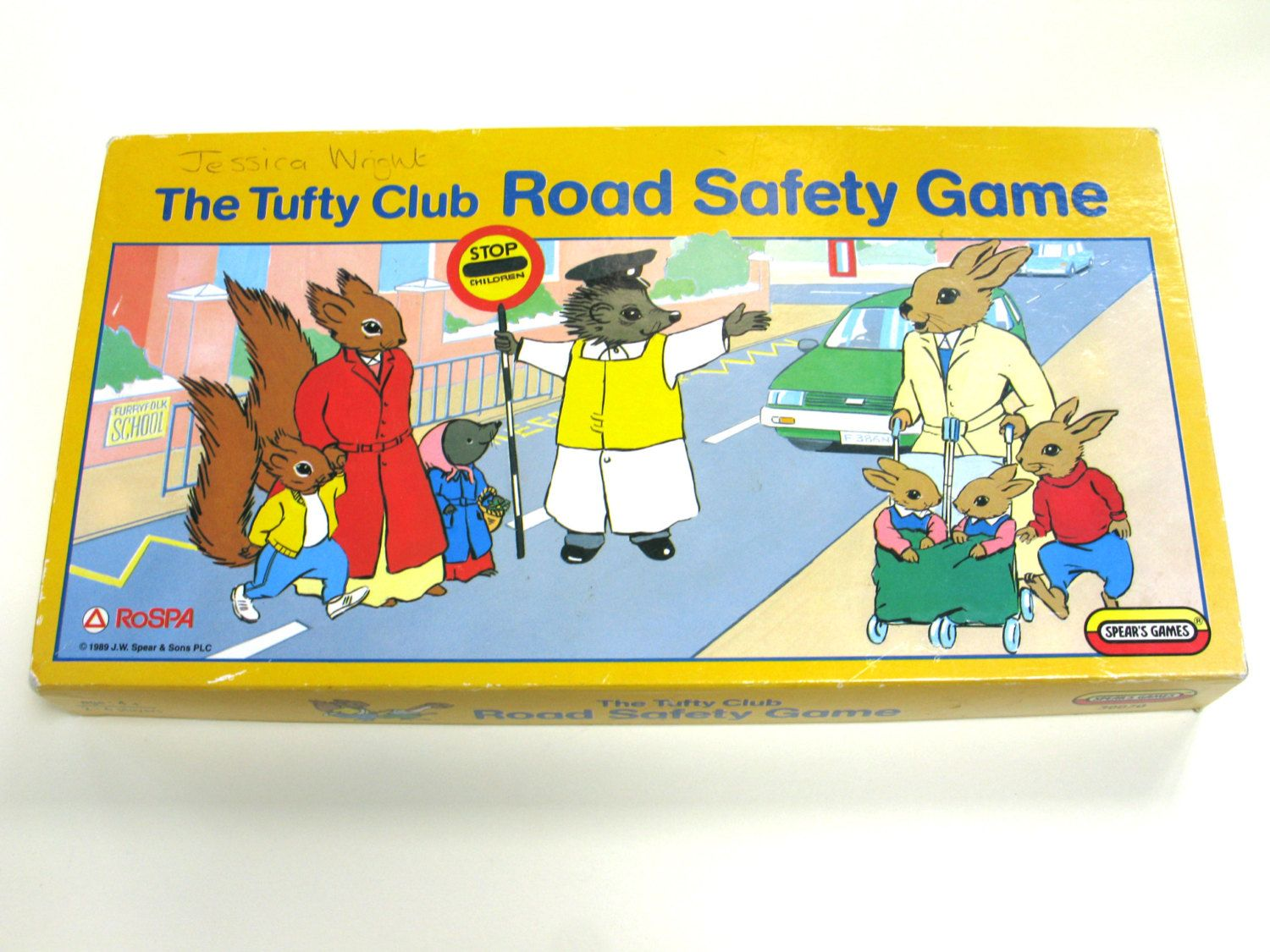 Tufty Board Game Vintage Board Game Tufty Squirrel