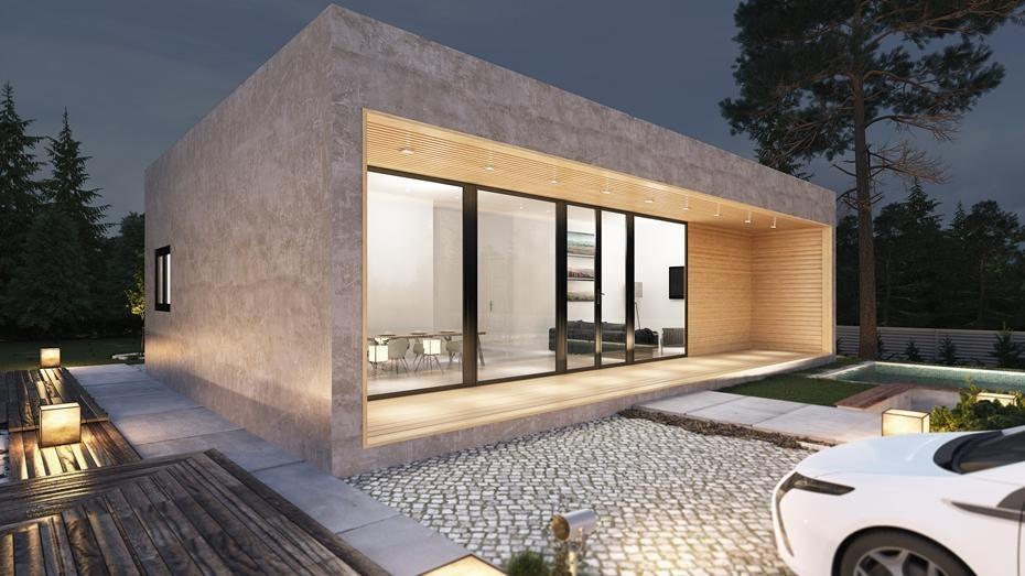 Casa de hormigon celular madera sistema de carcasa - Casas prefabricadas modernas hormigon ...