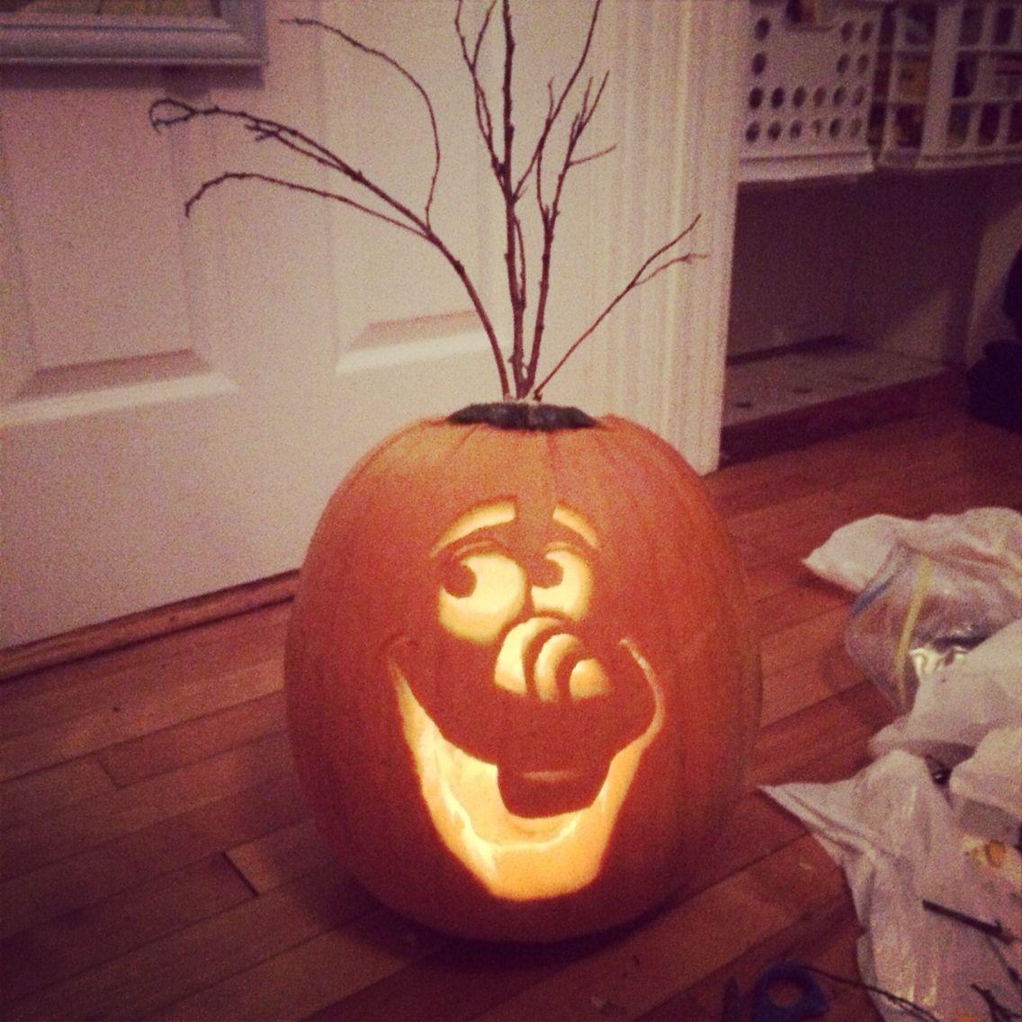 olaf the pumpkin halloween pinterest k rbisse