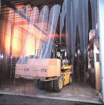 Clear Vinyl Strip Curtain Doors In 2020 Clear Vinyl Door Stripping