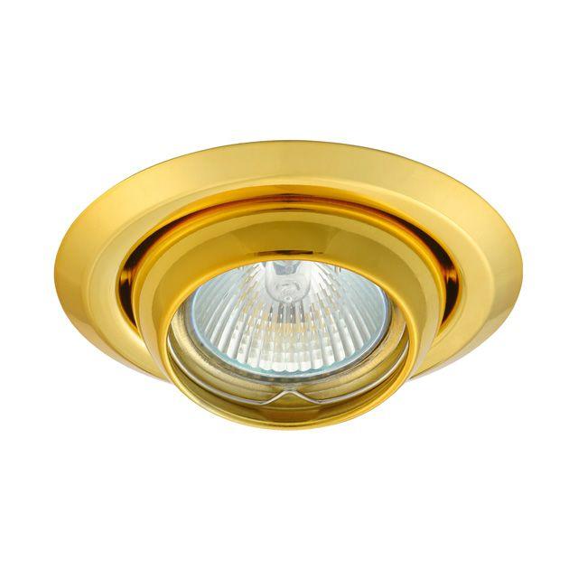 Gouden Kantelbare Inbouwspot Ando Kantelbaar Goud Led Lampen