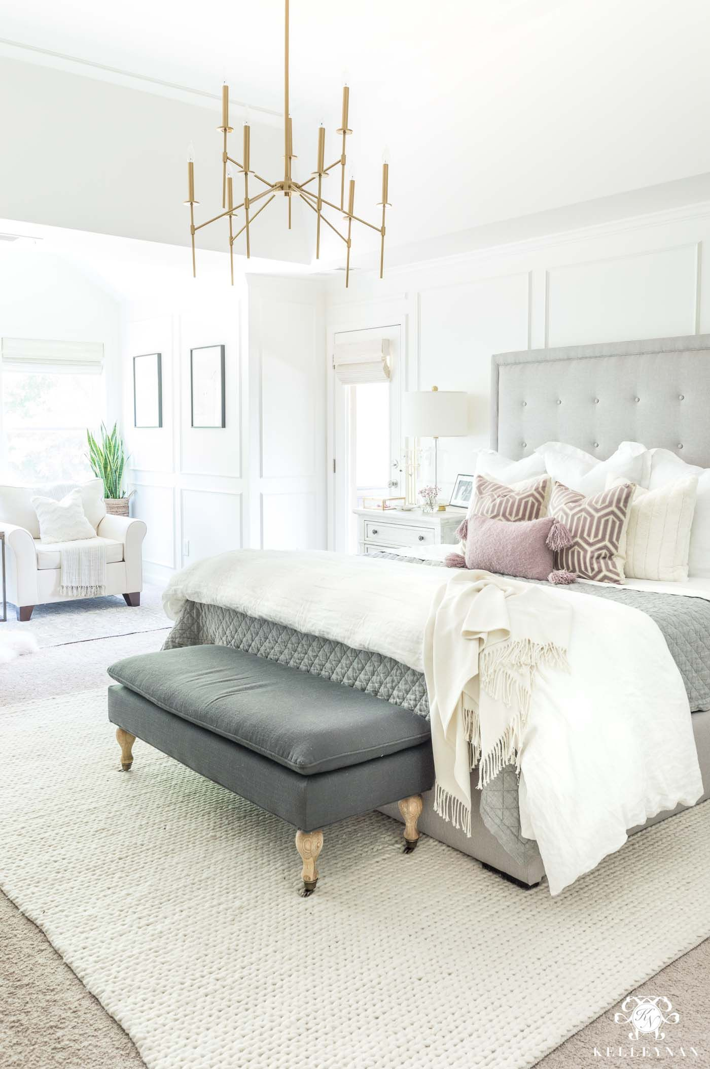 Master bedroom furniture  Mixing and matching bedroom furniture and tying together a neutral