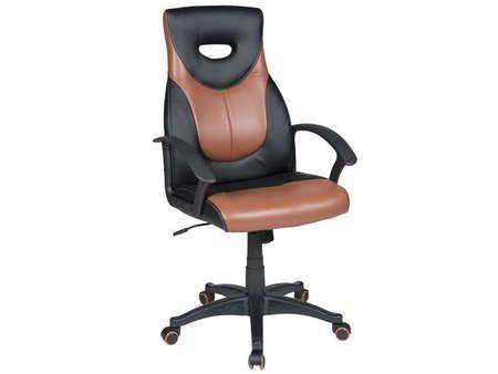 Conforama fauteuil de bureau duo coloris noir et marron bureau