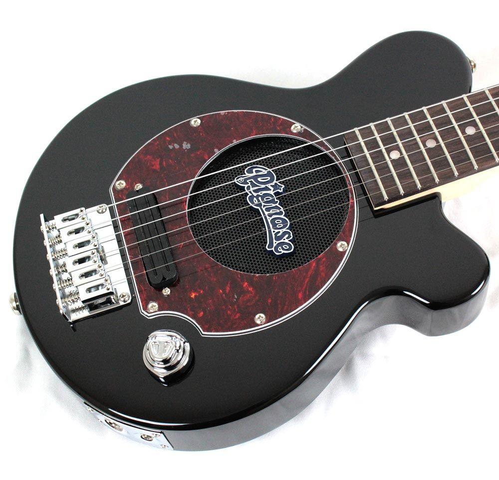 Pignose Pgg 200 Bk Tt Mini Travel Electric Guitar Built In Amp Speaker Guitar Building Electric Guitar Guitar