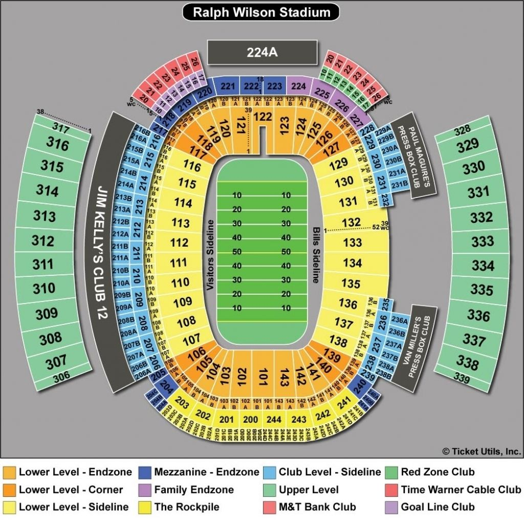 Buffalo Bills Seating Chart Seating Charts New Era Chart
