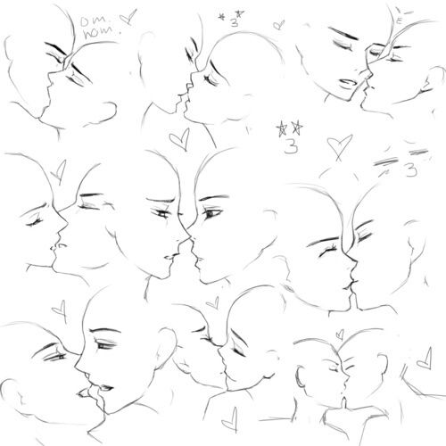 Imagen De How To Draw Art Reference Kissing Drawing Anime Drawings Tutorials