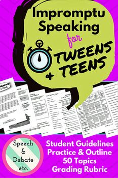 impromptu speaking for tweens teens public speaking activities  impromptu speaking for tweens teens