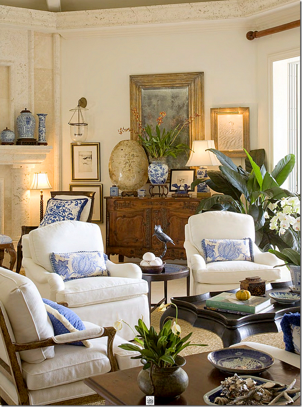 .A good way to incorporate blue and white