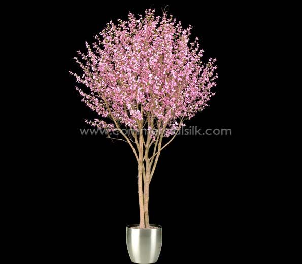 Artificial Cherry Blossom Tree Commercial Silk Int L Artificial Cherry Blossom Tree Cherry Blossom Tree Blossom Trees