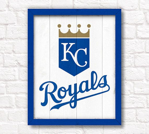 Kansas City Royals Rustic 16x20 Handmade Sign By ThePaintedLlama 5750