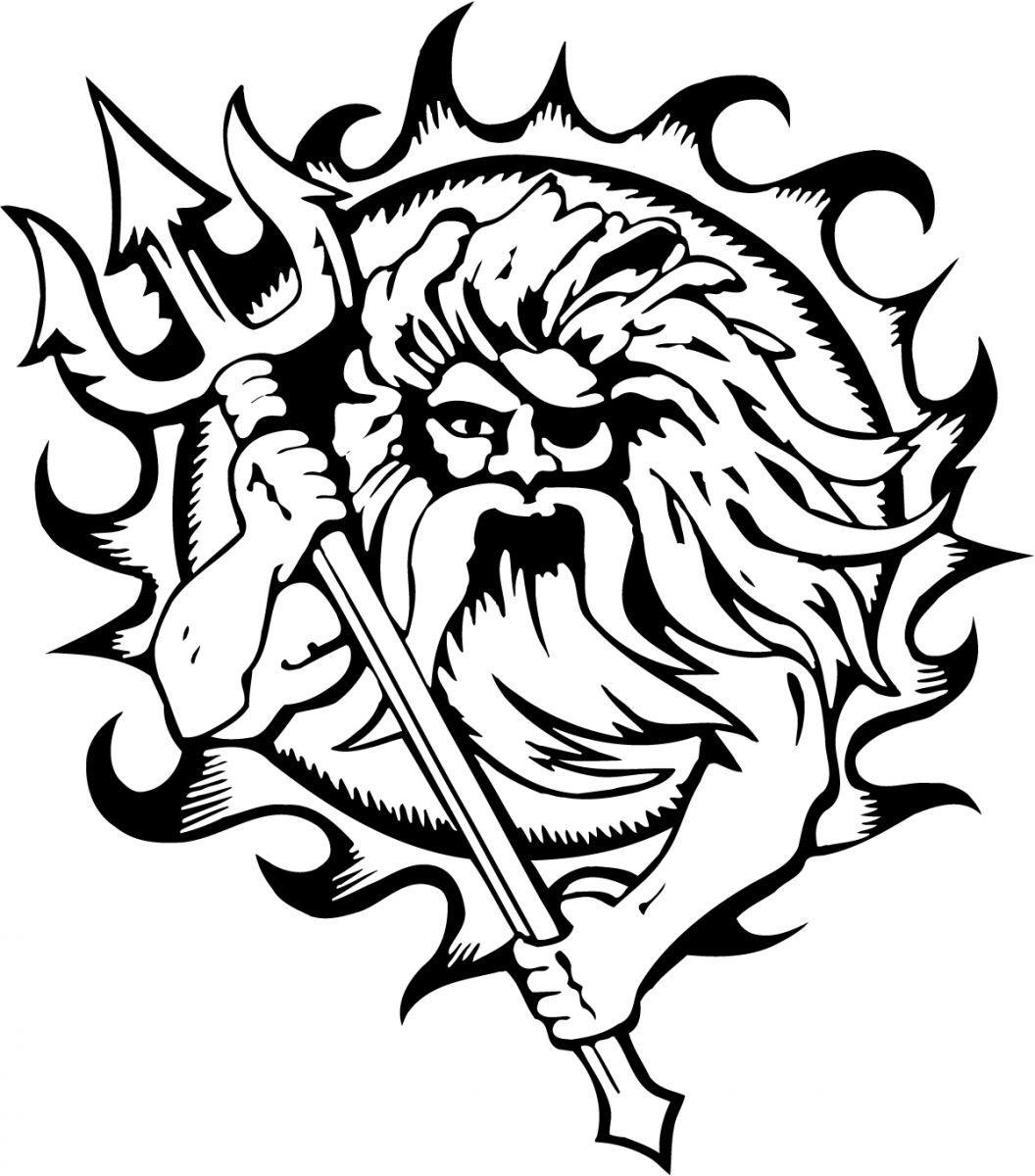 Poseidon Tattoo Designs