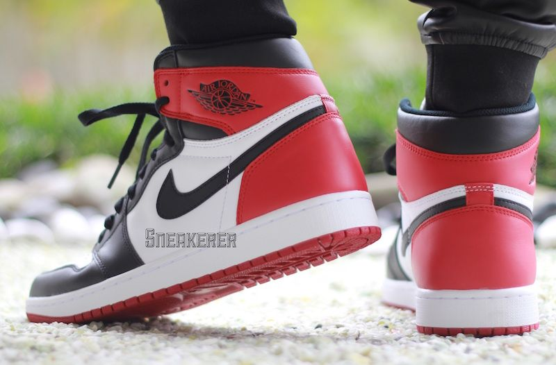 "Air Jordan Release dates – Air Jordan 1 ""Black Toe"" On Feet"