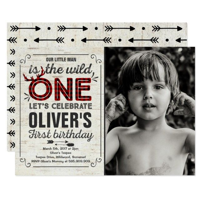 Wild One Invitation Boy Wild One Birthday Party #wild #wildone #boywild #rustic