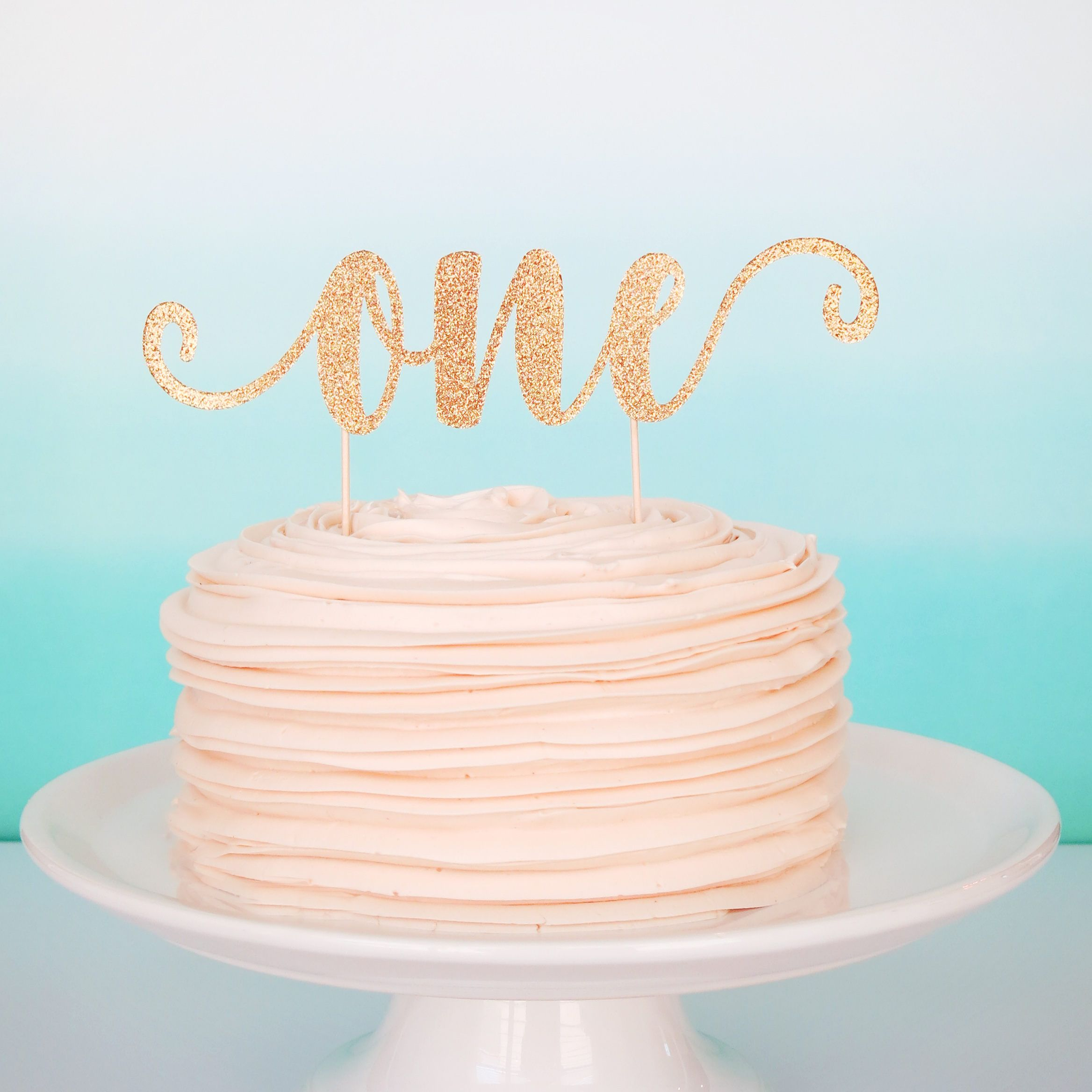 One Cake Topper One Smash Cake Topper First Birthday Cake Topper 1st