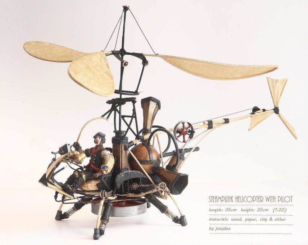 Steampunk Air Bike Joeydee-artworks Deviantart