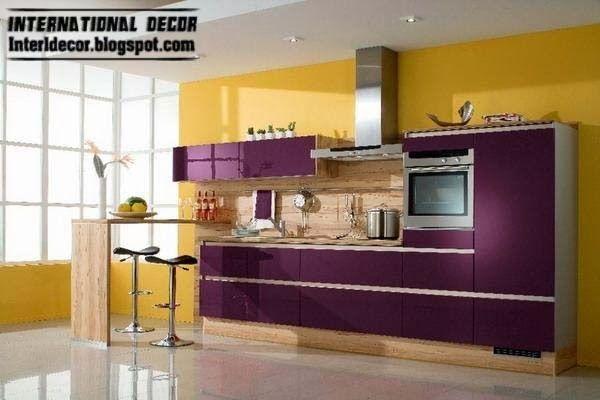 Purple Kitchen Interior Design Contemporary Indian Zellox