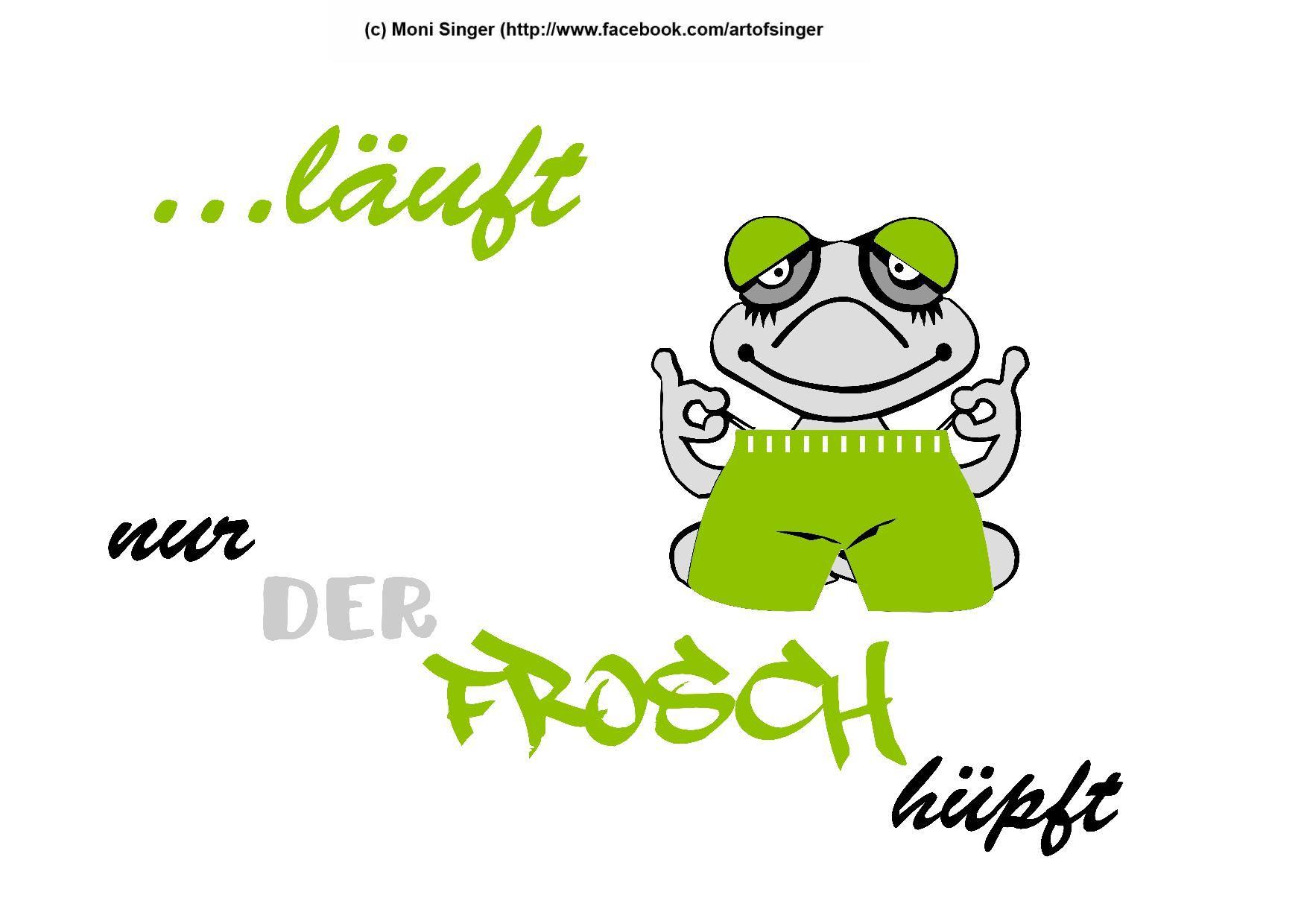 Silhouette plotter file free, Plotter Datei kostenlos, plotter freebie, Frosch ... läuft nur der Frosch hüpft, frog