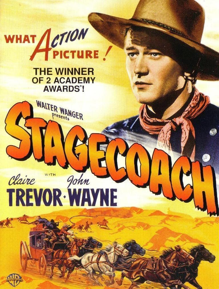 John Wayne Claire Trevor movie poster print 7 1939 Stagecoach