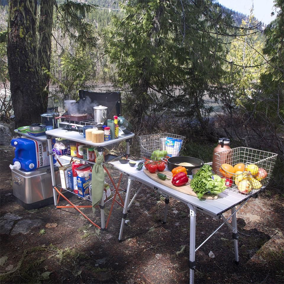 Camp kitchen checklist the chef pinterest camping for Camping outdoor kuche