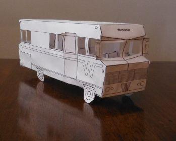 Printable : 1969 model winnebage paper toy