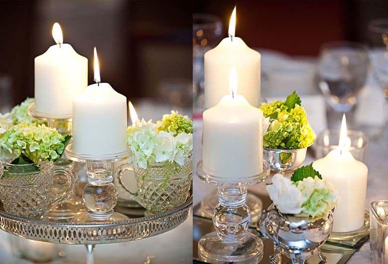 Resultado de imagen para arreglos de mesas con frascos y velas