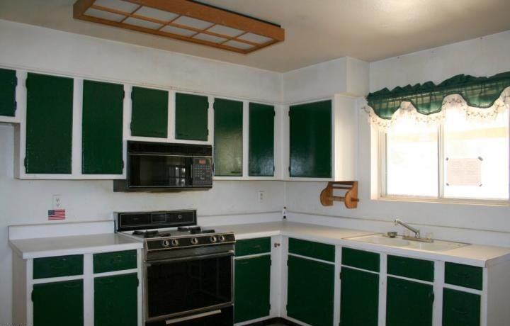 Kitchen Ideas Two Tone Cabinets painting kitchen cabinets two colors | ugly kitchen cabinets two
