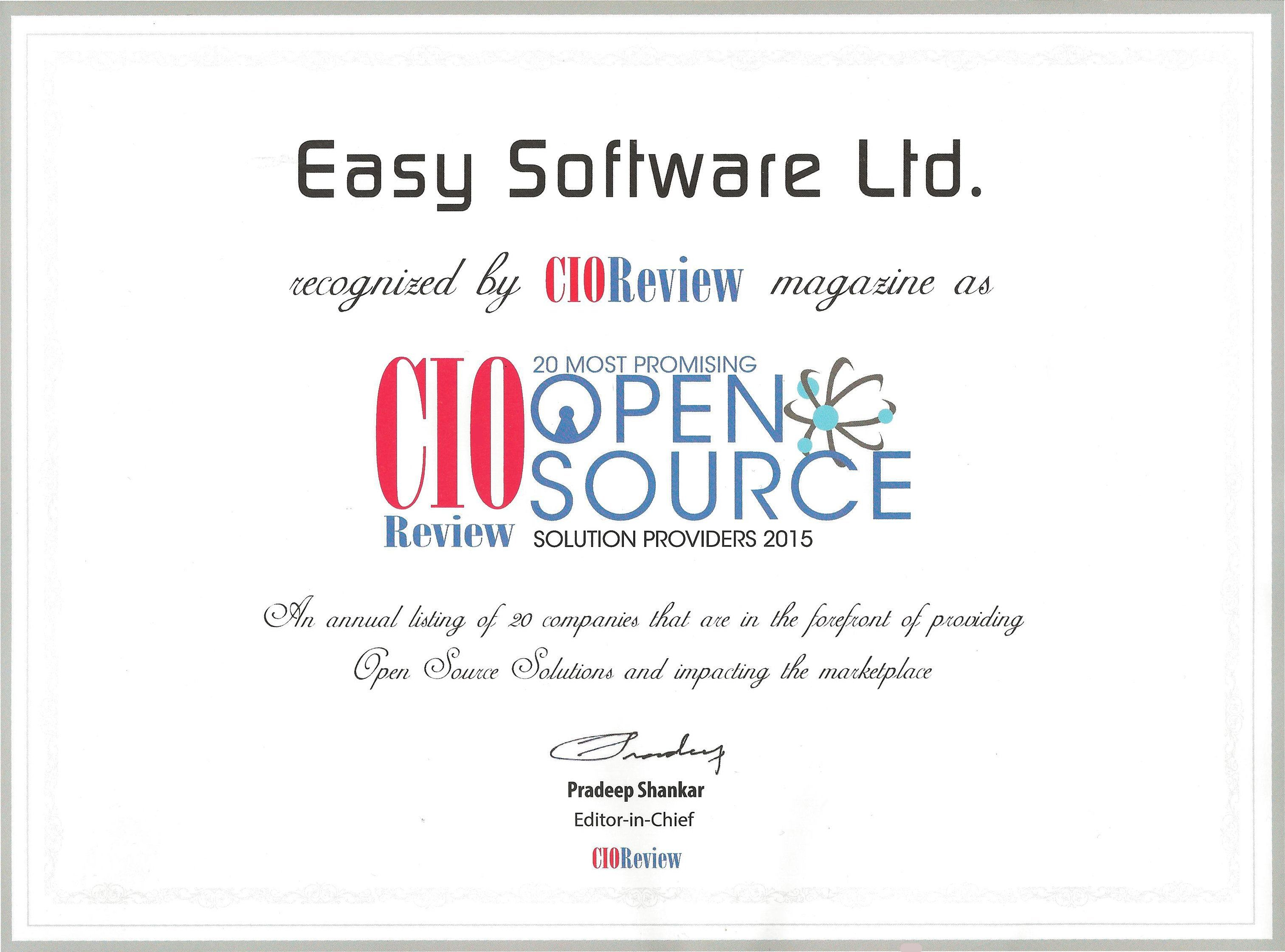 CIOreview Stamp Easy Redmine Top 20 Open Source Provider