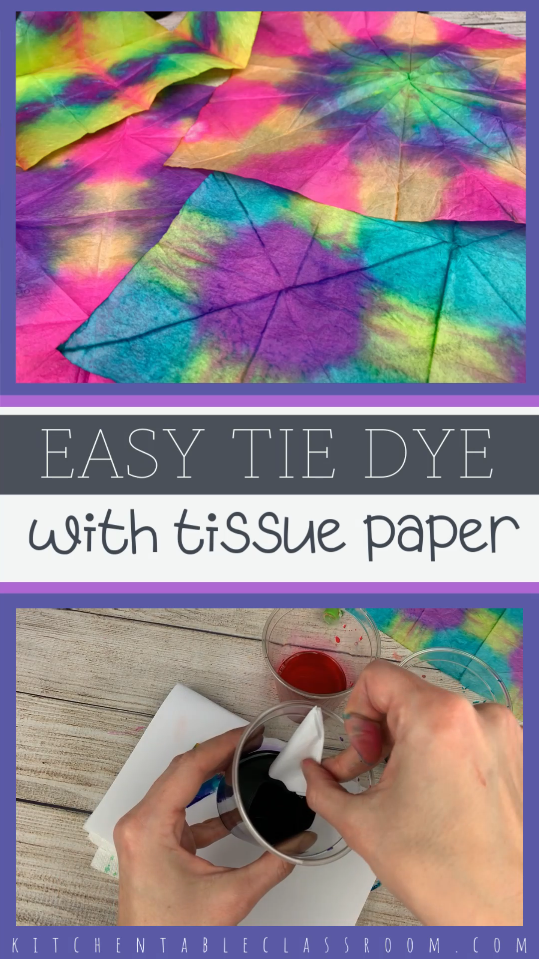 Easy Tie Dye with Tissue Paper