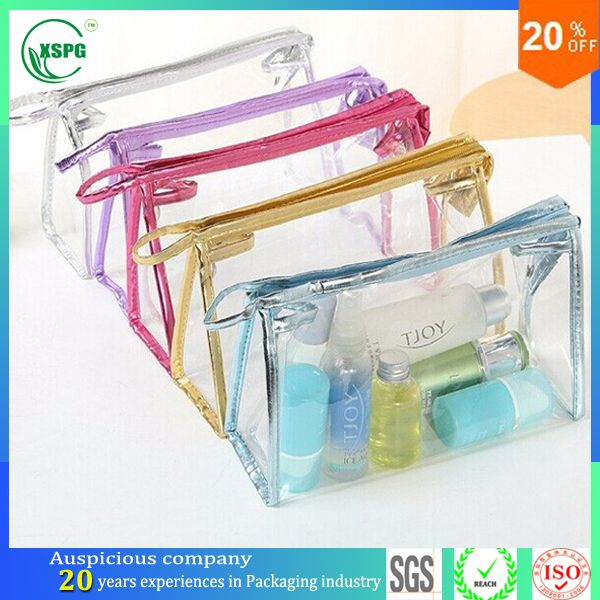 Whole Pvc Packaging Bag Clear Plastic Zipper Top Cosmetic Find Complete Details About