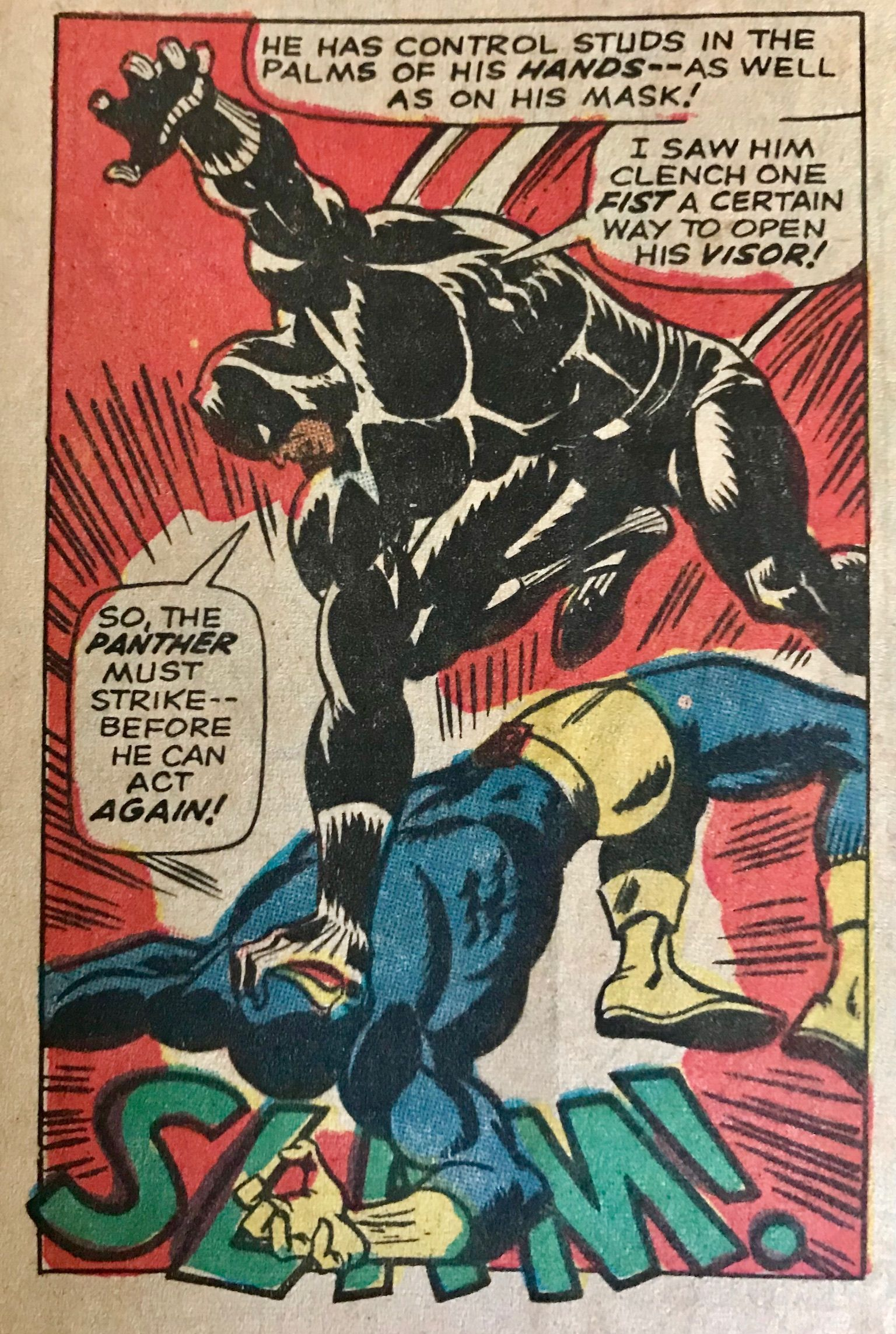 Black Panther Vs Cyclops By John Buscema And George Tuska 1968 Black Panther Marvel Best Comic Books Comic Book Pages
