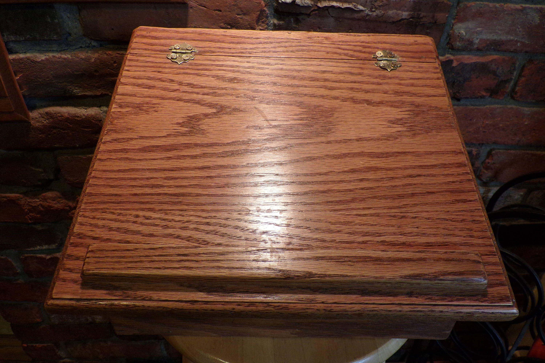 Wooden Lap Desk Vintage Wood Portable Writing Solid Oak