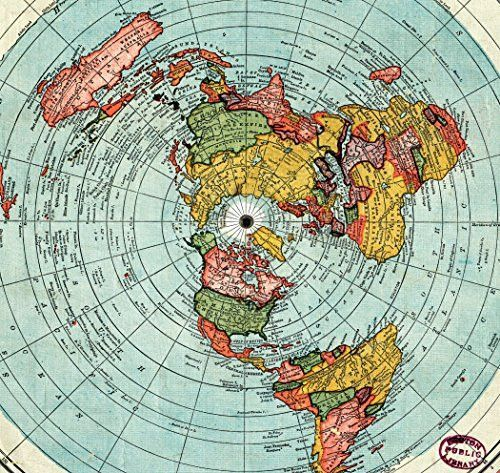 Flat Earth Map   Gleason's New Standard Map Of The World   Large