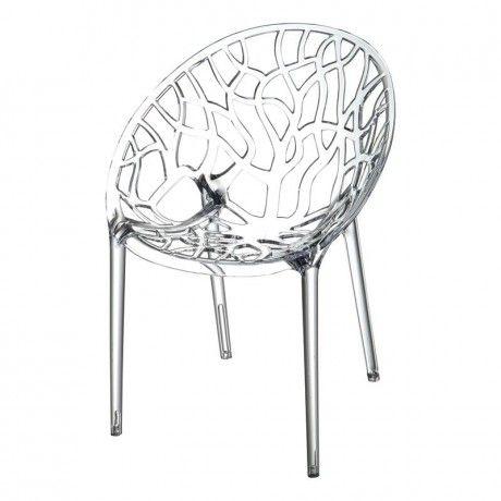 Chaise Design En Polycarbonate Crystal Chaise De Salle A Manger Chaise Transparente Chaises De Salon Modernes