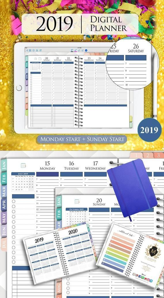 Ipad Pro Discover 2020 GoodNotes Planner Digital Hourly ...
