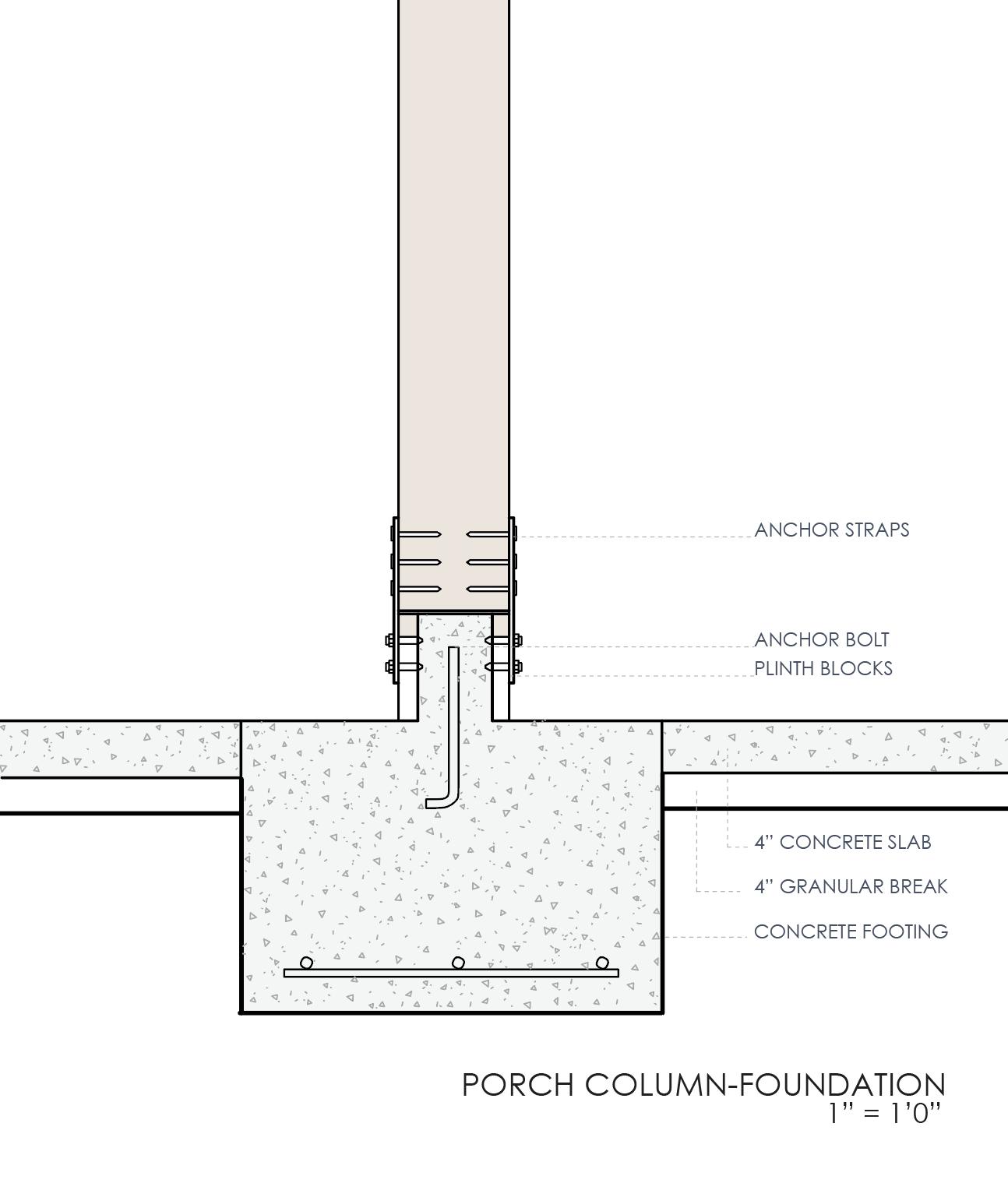 porch column foundation detail porch house houston s fifth ward