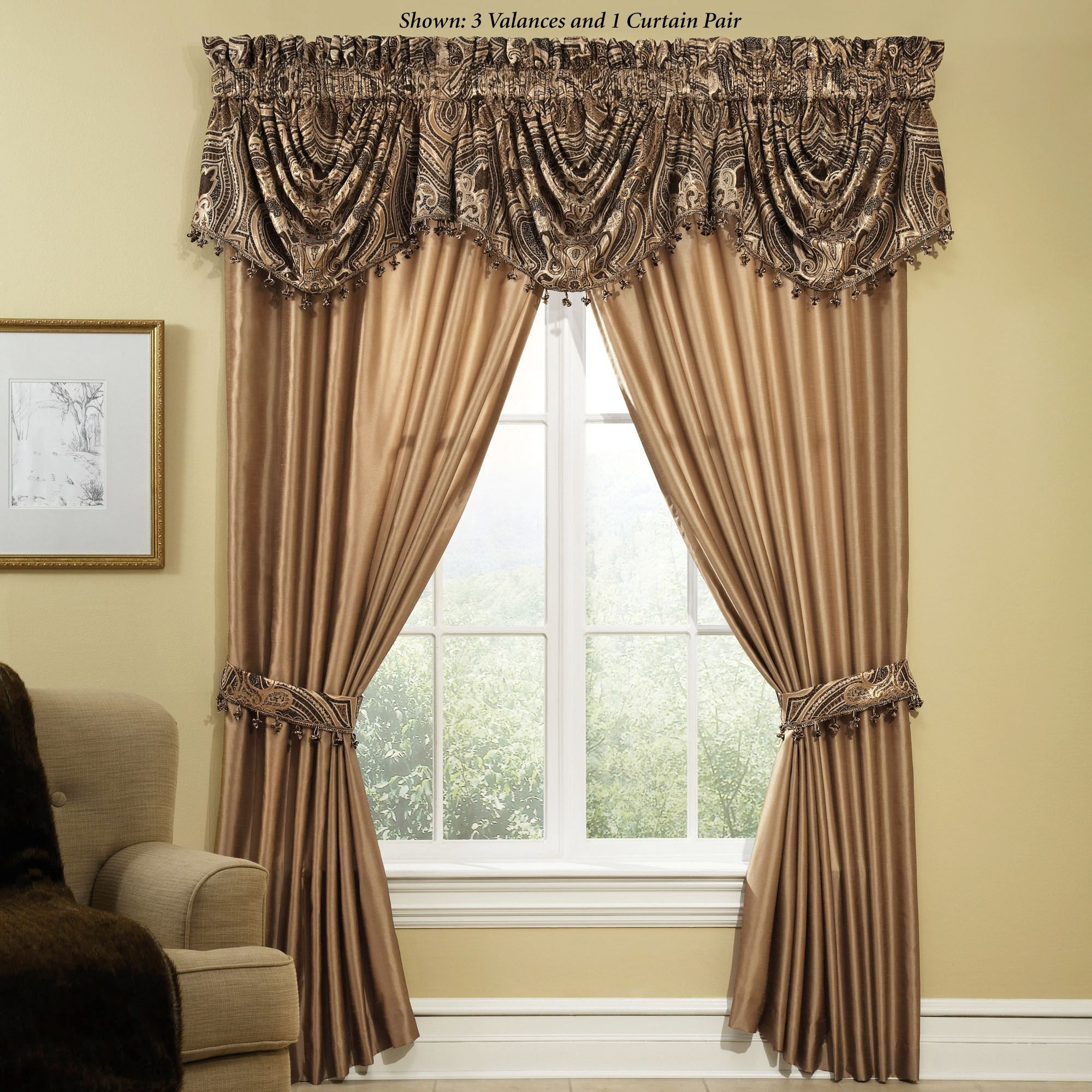 Window treatment ideas for arched windows  maison del ray window treatment by veratex  wide curtains formal