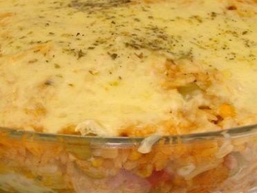 Torta De Frango E Requeijao De Microondas Arroz De Forno