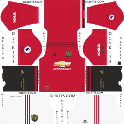 Dls Manchester United Kits Logos 2019 2020 Fifamoro Manchester United Home Kit Manchester United Logo Manchester United Third Kit