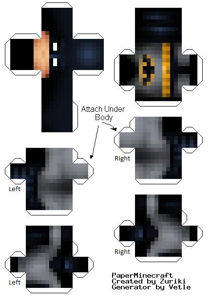 Minecraft Papercraft Skins Halucid Link To Skin Http Www - Skin para minecraft or
