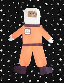 Selbst gebastelter Astronaut